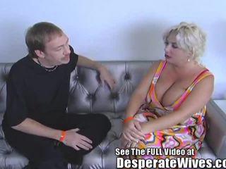 Desperate Wife Claudia Marie Eats Cum!