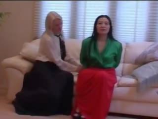 lesbians, long, skirt