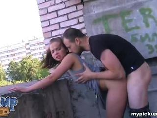Appetizing chick moans while fucking from the back Video