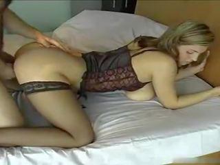 lingerie, big natural tits, stockings