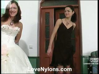 Emmie And Jaclyn Nasty Pantyhose Vid