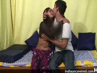 业余 印度人 青少年 在 她的 第一 性别 现场
