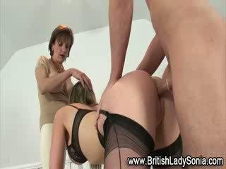 Hot british threesome gets nasty