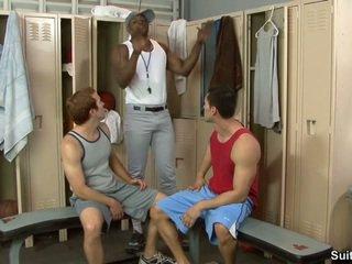 Trainer And His Boys. Alexander Garrett, Diesel Washington And Steven Ponce