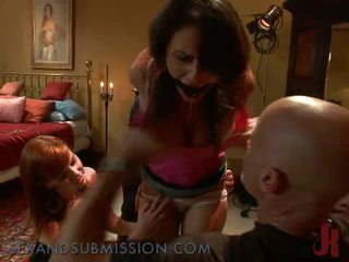 Poor Bimbo Is Dominated By Pair And Forced To Cumming
