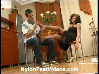 foot fetish, stocking sex, nylons feet