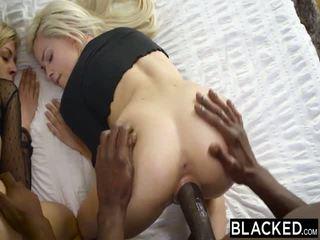 Blacked prvý medzirasové štvorka pre elsa jean a zoey monroe