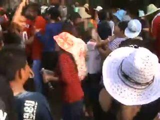 Thailand dorp meisjes sizzling dance in public- p