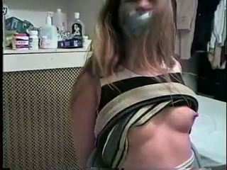hq gagged vid, hq bound, rated tied fucking
