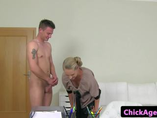 Female Casting Agent Jizzed on Hairy Pussy: Free HD Porn 04