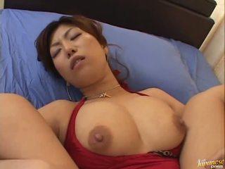 Besar boobed asia naho hazuki gets dia alat kelamin wanita licking