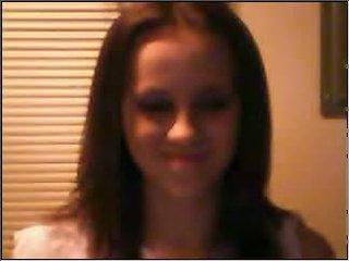 Teen girl in black bra