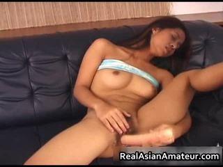 Азиатки cutie acquires hawt време с тя дилдо