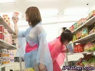 Super het japanska flickor flashing