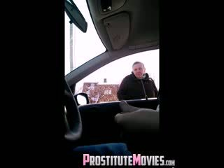 Flashing a granny in a car