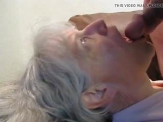 cum in mouth, granny, grannies
