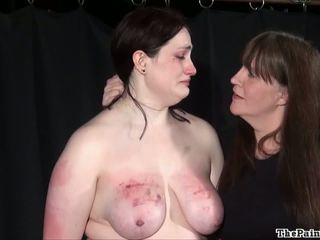 Dabbler Pain Happiness And X Rated Dyke Domination Of Chunky Bondman Nymph In Huge Shagging Whipping And Punishments To Tears