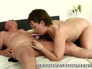 Grandpas Fuck Teens: Granpa wants to get this busty chick poled