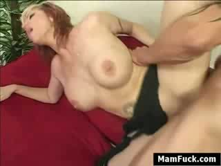 Daughter sucks takes and rides Dick Rough while Mom watches