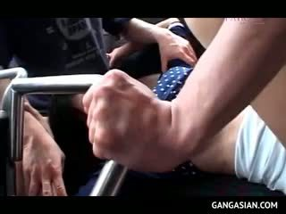 Japanese Sex Slave Forced Into Hardcore Fucking In Bus