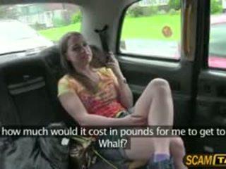 Збуджена olga rides a cab і gets трахкав