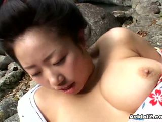 Sexy geisha kotone yamashita gefickt schwer