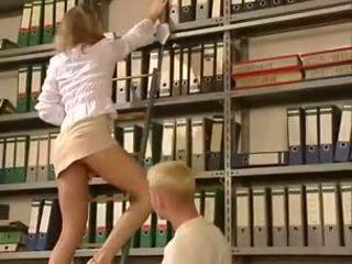 Anja Juliette Laval - Blonde office lady gets fucked