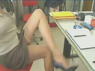 Fantastico gambe in calze autoreggenti suspender!