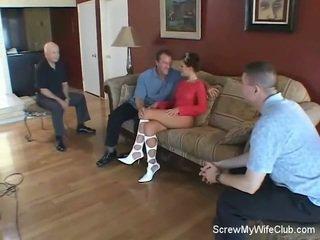 Swinger Wife Screws Stranger, Hubby Likes!