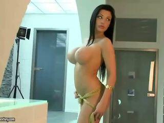 চাঁচা ভগ, হিসাব করা যায় বড় tits তাজা, কোনো pornstars