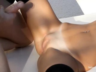 Guy and gal in oral fun