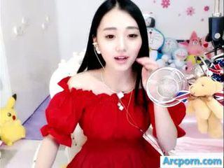 webcam, mädchen, chinesisch