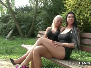 2 gjerman adoleshencë qirje publike në park me vojer