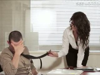 Gorgeous office girl Alexa Tomas screwed