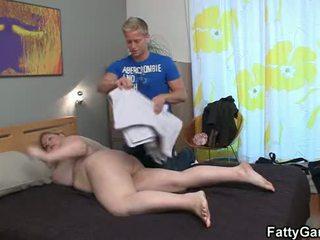 Well-shaped masseur fucks busty fatty