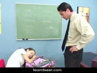 Innocenthigh вчитель статтєві зв'язки худенька азіатська підлітковий вік туга манда