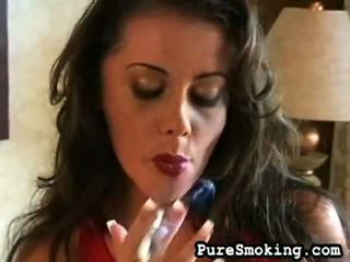 Mute watering penny smokes un undresses