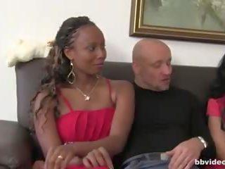 grupu sekss, svingeri, melns un ebony