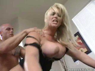 बड़े स्तन, कार्यालय सेक्स, पीछे से