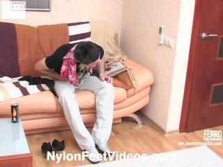Isabella And Vitas Astounding Nylon Feet Vid
