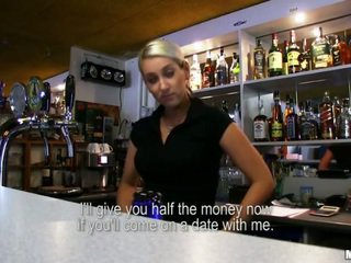 Barmaid Lenka pounded with a stranger
