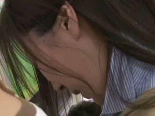 Plachý mladý žena tápal a used v a crowded vlak