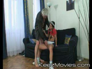 Dirty old man seduces his maid