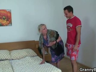 Moaning Granny Rides Hard Meat