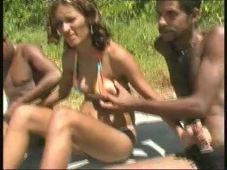 brasilianer, schwarz und ebony, gangbang