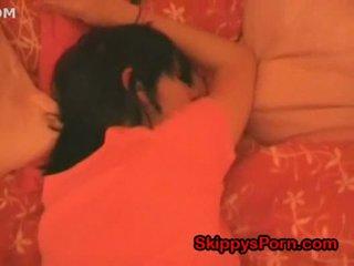 Cute teen is sleeping