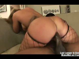Mellanie Monroe Inserts a Big Black Dick