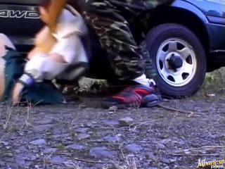 Twat kohta tšikk on caressed