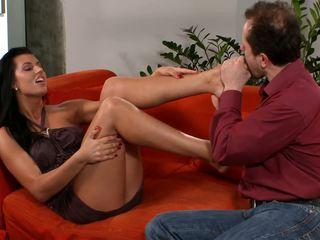 tits, brunettes, foot fetish