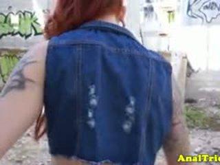 Tattooed Anal Loving Amateur Redhead Gf